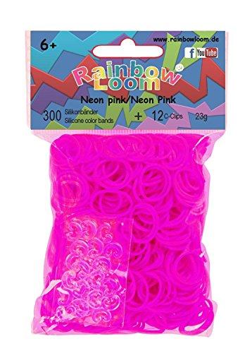 Rainbow Loom® Silikonbänder Neon Pink