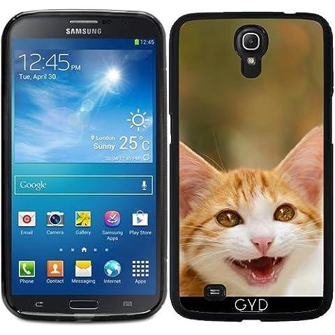 Funda para Samsung Galaxy Mega 6.3 GT-I9205 - Lindo Miau Gatito Sonriente by Katho Menden