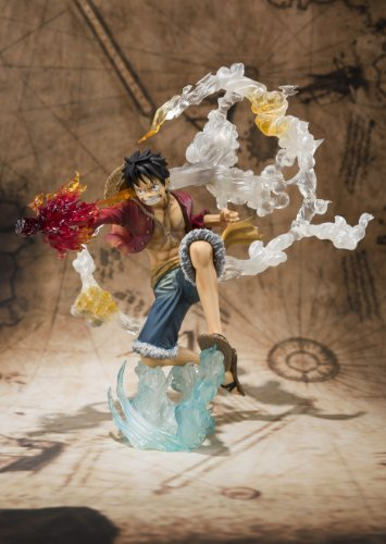 "Bandai Tamashii Nations Monkey. D. Luffy ""One-Piece"" FiguartsZERO Figure (Battle Version) (japan import) 3"