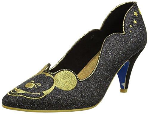 Irregular Choice Damen Glitzy Mickey Pumps Black (Black Glitter)