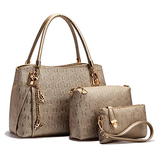 - 51tUQwwkccL - Handbag for Women, Coofit Ladies Handbags PU Leather Shoulder Handbags Messenger Tote Bags Satchel Wallet Purse