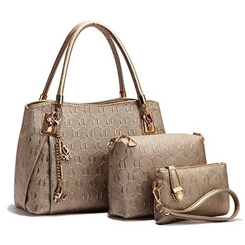 - 51tUQwwkccL - Handbag for Women, Coofit Ladies Handbags PU Leather Shoulder Handbags Messenger Tote Bags Satchel Wallet Purse
