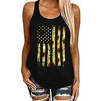 Desconocido JIER Liquidación American Flag Tank Tops Mujer Funny Stars and Stripes Graphic 4 de Julio Camisas