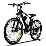 Creine 26 Zoll E-Bike Elektrofahrrad Mountainbike Elektro Fahrrad Pedelec mit Kapazität Lithium-Akku LED-Anzeige 250W Max. 35km/h