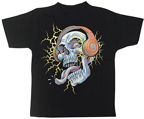 Elektro Skull Musik Kinder T-Shirt Gr.104 bis 164 (164) (Elektro-skull T-shirt)