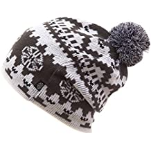 YueLian Unisex Sombrero del Invierno Gorro con pompón de esquí Warm Caps for Outdoor