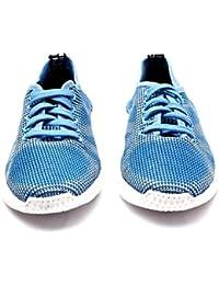 Menter Sports Designer Casual Canvas/Mesh Shoes for Men, Light Blue