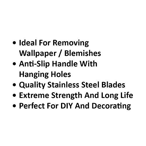 Flexible Klinge Edge-Metall Schaber Set mit rutschfesten Griffen Handwerkzeuge Klingen Lackreiniger Fenster Entferner Zubehör