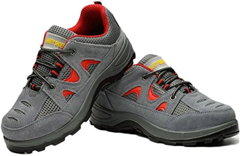 Zapatos De Trekking Impermeables De Cuero A Prueba De Agua Anti-Golpe Zapatos De Seguridad Antiprocesadores Zapatos...