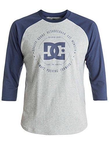 Herren Langarmshirt DC Rebuilt 2Raglan T-Shirt grey heather/summer blues