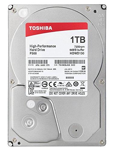 TOSHIBA P300 Interne Festplatte 1 TB – 3,5 Zoll (8,9 cm) – SATA Festplatte intern (HDD) – 7200 rpm (U/min) – 6 Gb/s – für Gaming-Computer, Desktop-PCs, Workstations etc. (Festplatte 3 Tb 7200 U / Min)