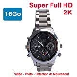 Cyber Express Electronics - Montre Mini caméra Espion 16 Go 2K Super Full HD 2304 x...