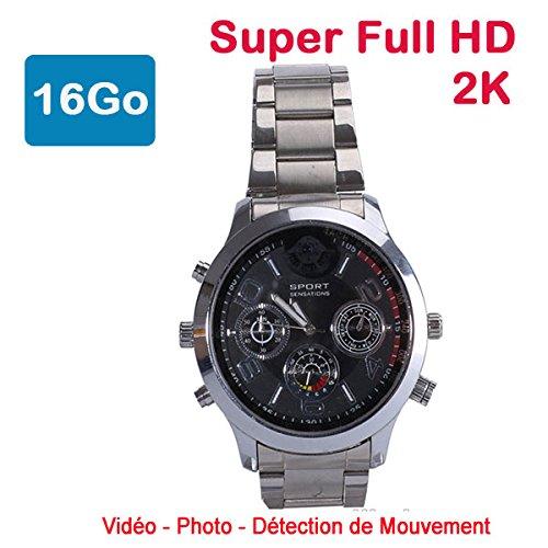 El primea reloj espía en calidad Super Full HD 2K.Con su diseño elegante y contemporáneo, esta cámara de vigilancia espía es suficientemente versátil para ser útil en todas las circunstancias.El reloj espía funciona realmente como un reloj común.En ...