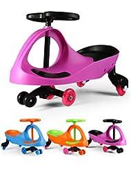 Fascol Bobbycar lenkrad Kinder Car Auto Antrieb durch Lenkbewegung für Kinder von 3 bis 8 Jahre mit leuchtende Flüsterrädern