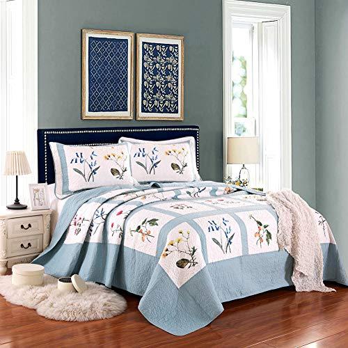 Bedspread Minimalista Elegante Botánico Estampado