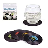Voici un set de 4 dessous de verre très Rock and Roll. Tous différents on est sûr de reconnaître son verre. Ces sous-verres sont pratiques et design, ils imitent avec soin des disques vinyles miniatures, ils protégeront votre table, tout en apportant...