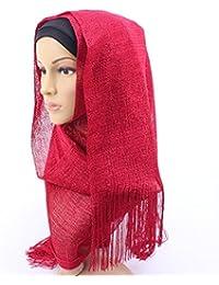 CCAILIS Mujeres Musulmanes Baotou Bufanda Cómodo Transpirable Pañuelo Europeo Y Americano Street Moda Estilo étnico Bufanda