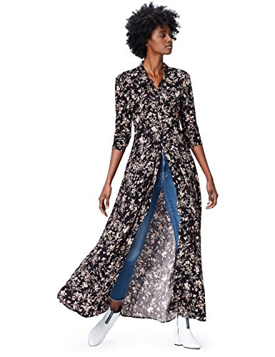 FIND 13609 vestidos mujer, Multicolor (Black Mix), 36 (Talla del Fabricante: X-Small)