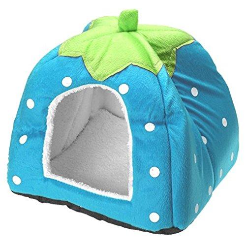 Conejo perro gato cama para mascotas pequeño animal grande Snuggle Puppy suministros interior camas resistentes al agua size S (Azul)