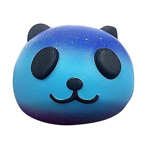 Reduzieren Stress Spielzeug,KIMODO Baby Langsam Aufsteigen Squeeze Kinder Spielzeug,Starry Cute 10cm Panda Baby Creme Duft Squishy Langsam Aufsteigen Squeeze Kinder Spielzeug (Blau)