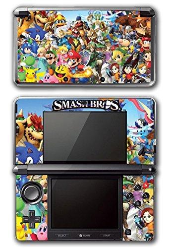 Super Smash Bros Melee Brawl Mario Pikachu Yoshi Mega Man Zelda Sonic Metroid Video Game Vinyl Decal Skin Sticker Cover for Original Nintendo 3DS System by Vinyl Skin Designs