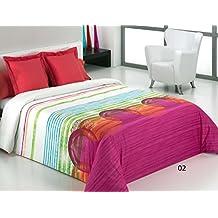 Reig Martí Caddy - Juego de funda nórdica estampada, 3 piezas, para cama de 150 cm, color rojo