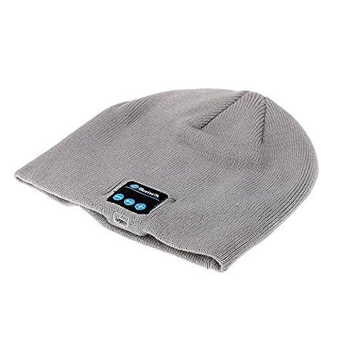 SUNDY 2016nouvelle mode chaud Hat Mini haut-parleur Musique Récepteur audio Bluetooth haut-parleur sans fil Bluetooth casque chapeau, Gris