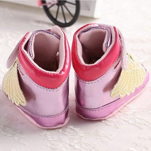 Flying Hedwig Baby Säugling Schuhe Sneaker Prewalker Weiche Sohle Kleinkind Schuhe Winter Warme mit Flügel Klett Rosa