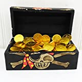 Schokoladenmünzen behandeln Piraten-Geschenk-Kasten - vollkommenes Geburtstags-Geschenk für Jungen und Mädchen