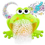 leegoal Baby Bath Bubble Machine, Tub Big Frog Automatic Bubble Maker Blower Toys with 12 Music Song Bath Toy for Baby, for Boys, Girls