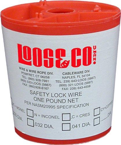 Edelstahl-draht-sperre (Loos cableware slw020Edelstahl Sicherheit sperren Draht für 0,1cm Durchmesser Draht Seil)