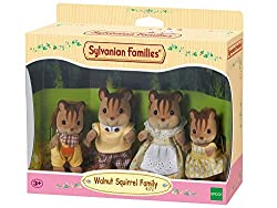 Sylvanian Families 4172 4172-Walnuss Eichhörnchen Familie Knacks, Püppchen, Mehrfarbig