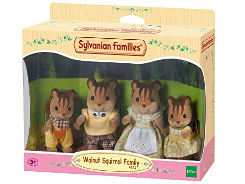 Sylvanian Families Walnut Squirrel Family Mini muñecas y Accesorios,