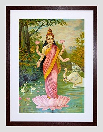 painting-varma-goddess-lakshmi-9x7-framed-art-print-f97x12882
