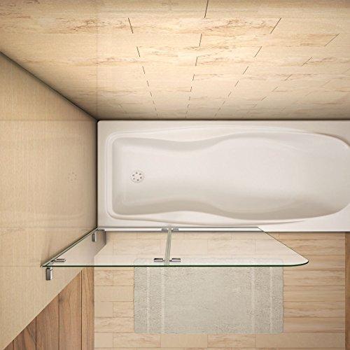 51tUaBagSBL - 110x140cm Mamparas/pantalla para bañera biombo baño plegable de Aica