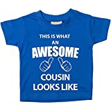 Questo è ciò che una cugino Looks Like blu Maglietta per bambini, taglie disponibili 0-6 mesi a 14-15 anni Baby Sister Gift Blu blu 14-15 anni