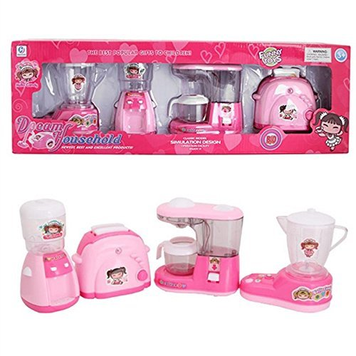 Kitchen Utility Household 4 In 1 Appliances Battery Operated Play Set With Light & Sound For Kids