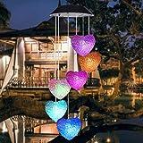 TAOtTAO - Scacciaspiriti a energia Solare, Luce LED da Appendere al Giardino, Luce Rotante Che Cambia Colore