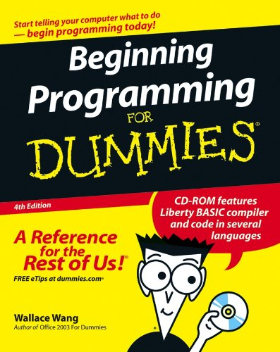 Beginning Programming for Dummies [With CDROM]
