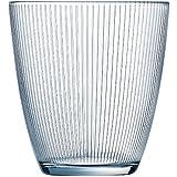 Luminarc Stripy - Set de 6 vasos bajos, de 25 cl