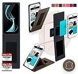 reboon Hülle für Allview X4 Soul Infinity L Tasche Cover Case Bumper | Braun Wildleder | Testsieger