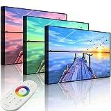 Lightbox-Multicolor | Leinwandbild mit LED Beleuchtung | Steg mit Möwen bei Sonnenuntergang | 80x60 cm | Front Lighted