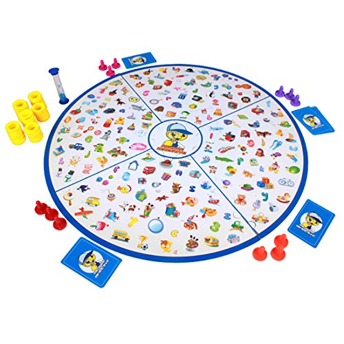 deAO Memory Matching Picture Board Game for Children with 60 Image Cards Included - Great Family Fun