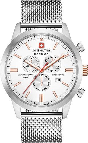Swiss Military Hanowa Reloj Analógico para Unisex Adultos de Cuarzo con Correa en Acero Inoxidable 06-3308.12.001