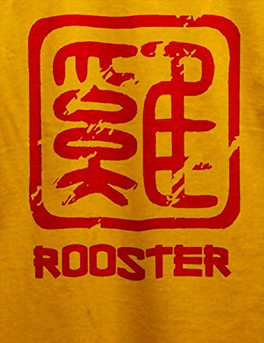 Chinese Signs Rooster T-Shirt Gelb