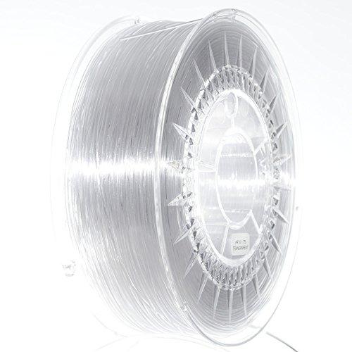 NuNus PETG Filament 1KG - (1.75mm, transparent) *Premium Qualität in verschiedenen Farben,geeignet für 3D Drucker,3D Pen, MakerGear Ultimaker uvm