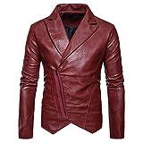 Herren Pullover,TWBB PU Langarm Mantel Winddicht Cardigan Coat Mit Reißverschluss Unregelmäßig Sweatshirt Lange Ärmel Oberteiele Shirt