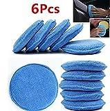 WildAuto applicatore di cera a microfibra cuscinetti per applicazioni in spugna a schiuma auto - blu -diametro da 5 (6 pcs)