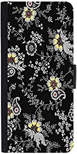 Snoogg Black Yellow Pattern 2480 Designer Protective Flip Case Cover For Sams...