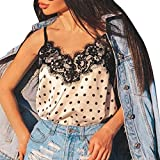 Women Strap Lingerie,Donna Camicie Corti Sleeveless Babydoll Pigiama G-String Lace Notte Sexy Trim Satin Underwear Sleepwear Short Top Pajamas Set (XXXL, White)
